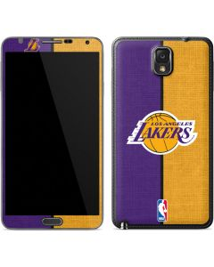 Los Angeles Lakers Canvas Galaxy Note 3 Skin
