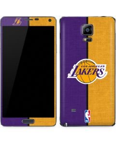 Los Angeles Lakers Canvas Galaxy Note 4 Skin