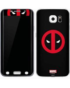 Deadpool Logo Black Galaxy S6 Edge Skin