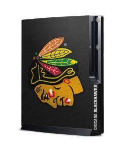 Chicago Blackhawks Distressed Playstation 3 & PS3 Slim Skin