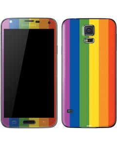 Vertical Rainbow Flag Galaxy S5 Skin