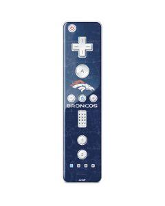 Denver Broncos - Distressed Wii Remote Controller Skin