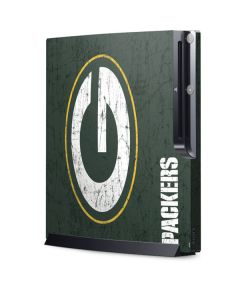 Green Bay Packers Distressed Playstation 3 & PS3 Slim Skin