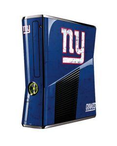 New York Giants Distressed Xbox 360 Slim (2010) Skin