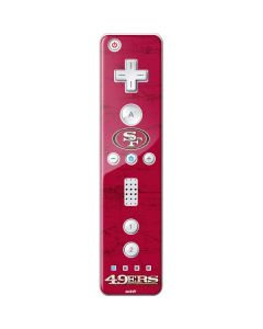 San Francisco 49ers Distressed Wii Remote Controller Skin