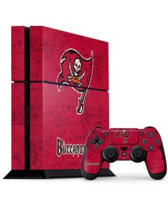 Tampa Bay Buccaneers Distressed PS4 Console and Controller Bundle Skin