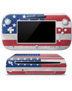 American Flag Distressed Wii U (Console + 1 Controller) Skin