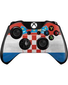 Croatia Flag Distressed Xbox One Controller Skin