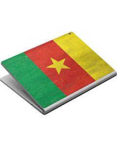 Cameroon Flag Distressed Surface Book Skin