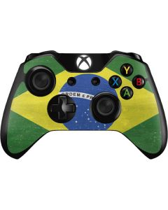 Brazil Flag Distressed Xbox One Controller Skin