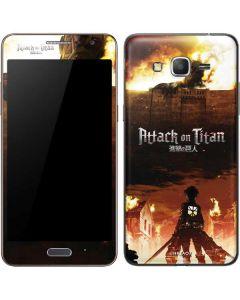 Attack On Titan Fire Galaxy Grand Prime Skin