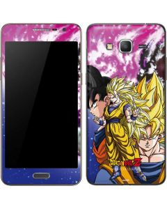 Dragon Ball Z Goku Forms Galaxy Grand Prime Skin
