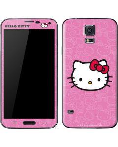 Hello Kitty Face Pink Galaxy S5 Skin