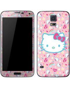 Hello Kitty Pink, Hearts & Rainbows Galaxy S5 Skin