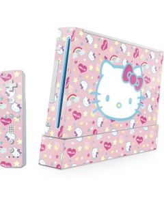 Hello Kitty Pink, Hearts & Rainbows Wii (Includes 1 Controller) Skin