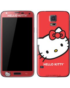 Hello Kitty Cropped Face Red Galaxy S5 Skin