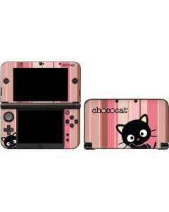 Chococat Pink and Brown Stripes 3DS XL 2015 Skin