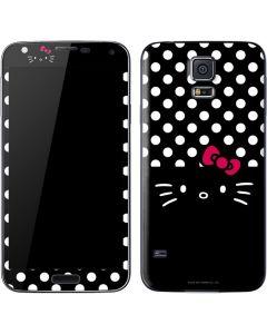 Hello Kitty Black Galaxy S5 Skin