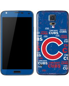 Chicago Cubs -Cap Logo Blast Galaxy S5 Skin