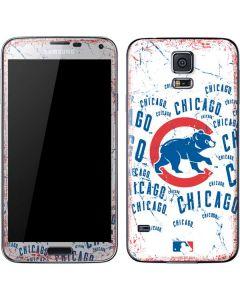 Chicago Cubs - White Cap Logo Blast Galaxy S5 Skin