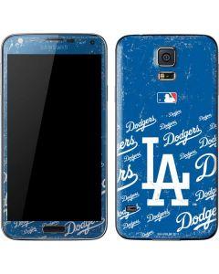 Los Angeles Dodgers - Cap Logo Blast Galaxy S5 Skin
