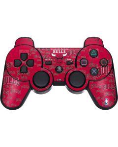 Chicago Bulls Blast PS3 Dual Shock wireless controller Skin