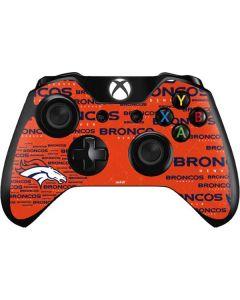 Denver Broncos Orange Blast Xbox One Controller Skin