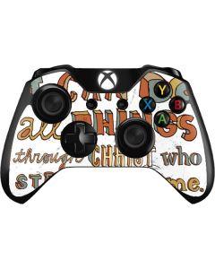 Philippians 4:13 White Xbox One Controller Skin