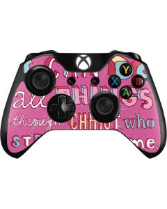Philippians 4:13 Pink Xbox One Controller Skin