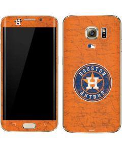 Houston Astros Distressed Galaxy S7 Edge Skin