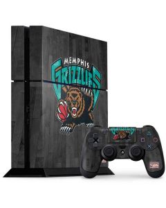 Memphis Grizzlies Hardwood Classics PS4 Console and Controller Bundle Skin