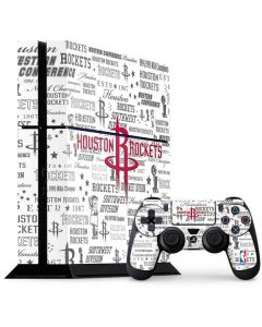 Houston Rockets Historic Blast PS4 Console and Controller Bundle Skin