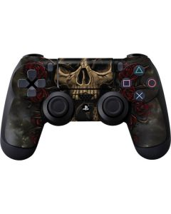 Skull Entwined with Roses PS4 Controller Skin