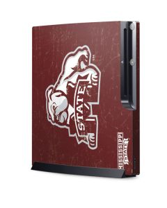 Mississippi State Bulldogs Distressed Playstation 3 & PS3 Slim Skin