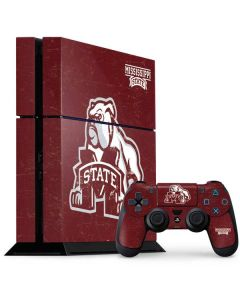 Mississippi State Bulldogs Distressed PS4 Console and Controller Bundle Skin
