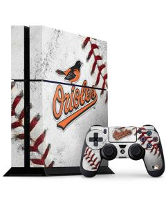 Baltimore Orioles Game Ball PS4 Console and Controller Bundle Skin