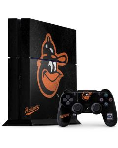 Baltimore Orioles - Cooperstown Distressed PS4 Console and Controller Bundle Skin