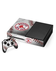 Boston Red Sox Game Ball Xbox One Console and Controller Bundle Skin