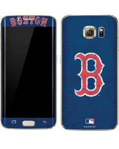 Boston Red Sox - Solid Distressed Galaxy S7 Edge Skin