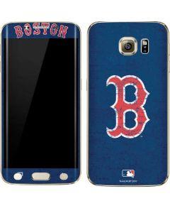 Boston Red Sox - Solid Distressed Galaxy S6 edge+ Skin