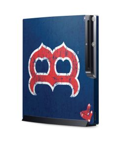 Boston Red Sox - Solid Distressed Playstation 3 & PS3 Slim Skin