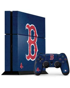 Boston Red Sox - Solid Distressed PS4 Console and Controller Bundle Skin