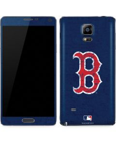 Boston Red Sox - Solid Distressed Galaxy Note 4 Skin