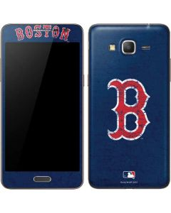 Boston Red Sox - Solid Distressed Galaxy Grand Prime Skin