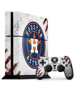 Houston Astros Game Ball PS4 Console and Controller Bundle Skin