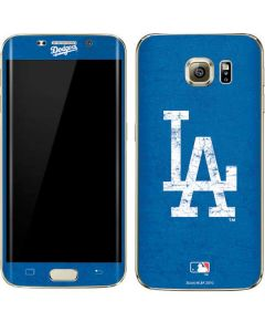 Los Angeles Dodgers - Solid Distressed Galaxy S7 Edge Skin