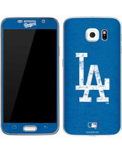 Los Angeles Dodgers - Solid Distressed Galaxy S7 Skin