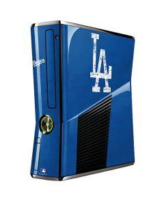 Los Angeles Dodgers - Solid Distressed Xbox 360 Slim (2010) Skin