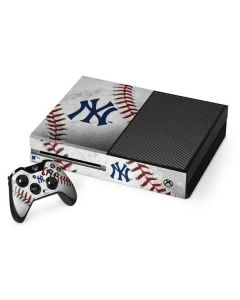 New York Yankees Game Ball Xbox One Console and Controller Bundle Skin