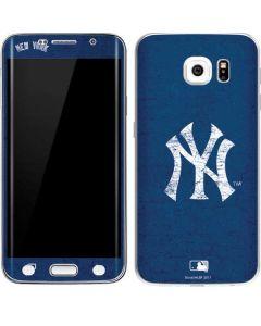 New York Yankees - Solid Distressed Galaxy S6 Edge Skin
